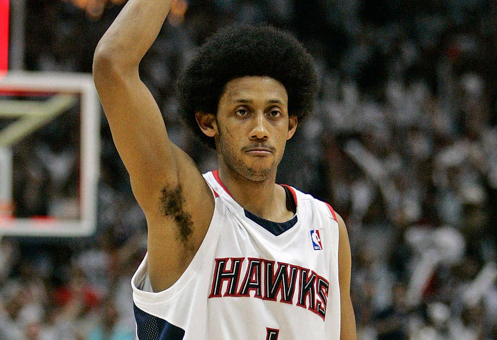 Josh Childress playing for the Atlanta Hawks