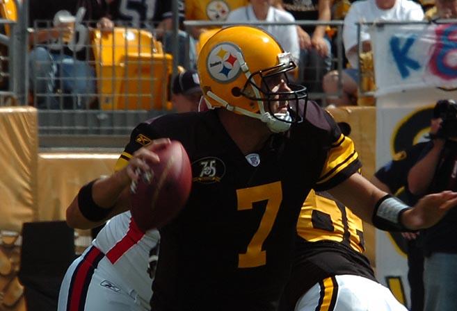 Ben Roethlisberger throws a mickey.