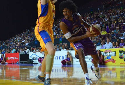 Josh Childress in action for the Sydney Kings