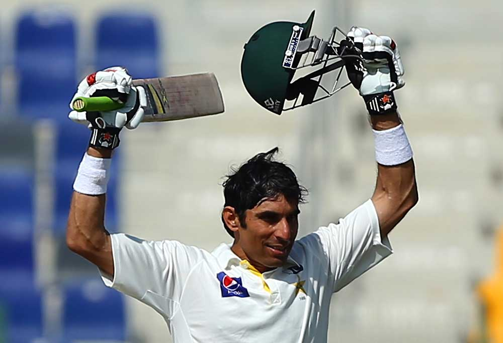 Pakistani batsman Misbah Ul Haq