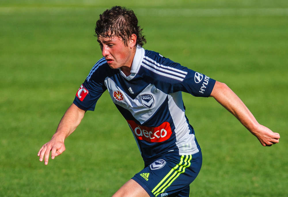 Marco Rojas in action for Melbourne Victory.