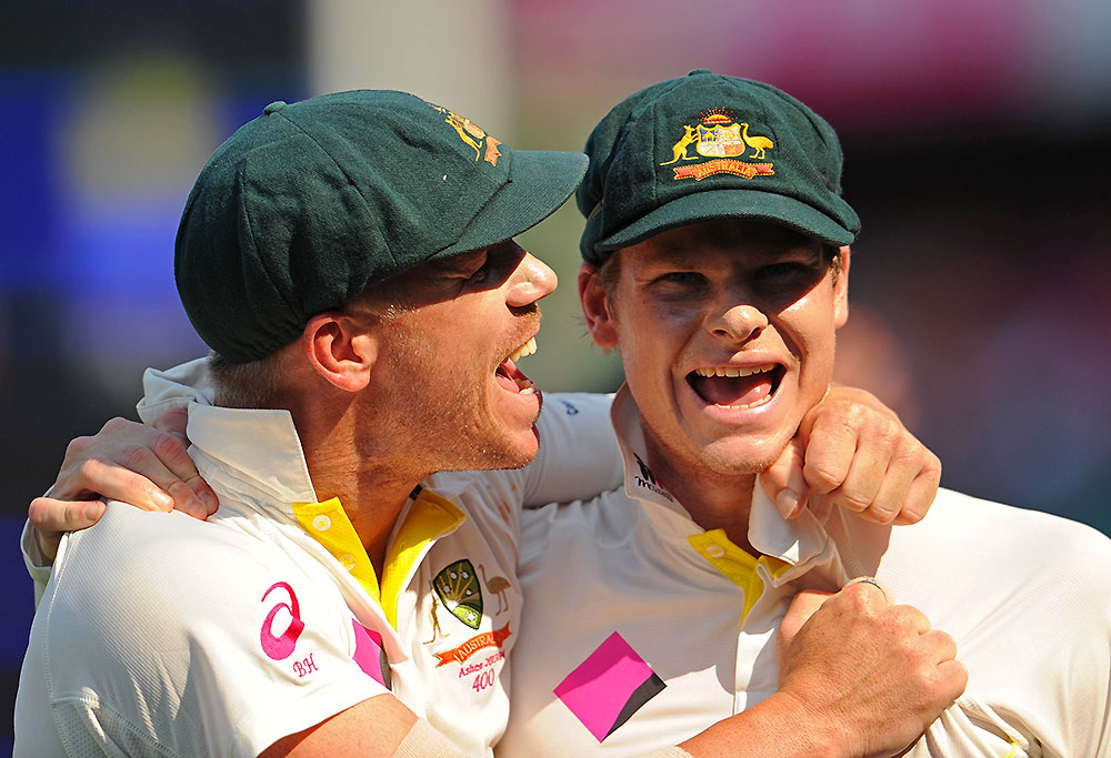 Australia's David Warner and Steve Smith