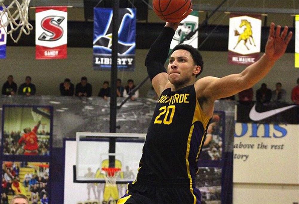 Ben Simmons dunks