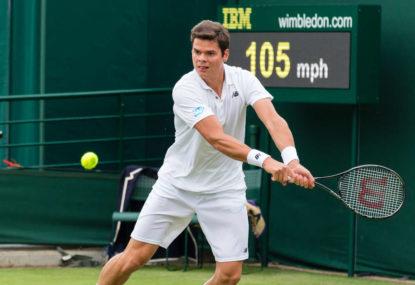 Milos Raonic vs John Isner: Wimbledon men's quarter-final live scores