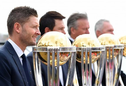 Australian cricket captain, Michael Clarke, along with former captains, Ricky Ponting, Steve Waugh and Allan Border