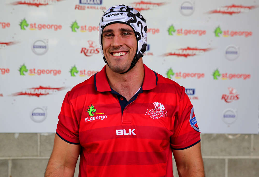 Ben Daley at the launch of his Be great, Do good campaign (Photo: Queensland Reds)