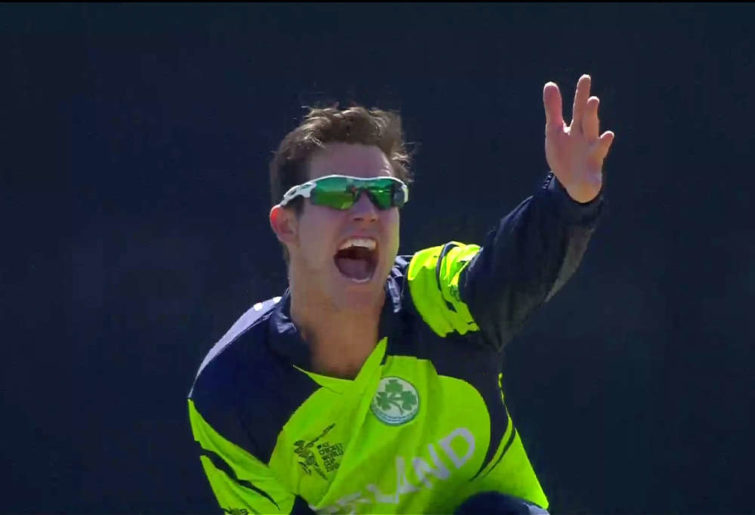 Ireland spinner George Dockrell appeals