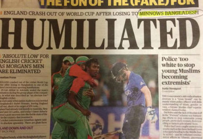 Bangladesh's win should be talked up, rather than England's loss talked down