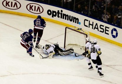 Penguins overcome Rangers