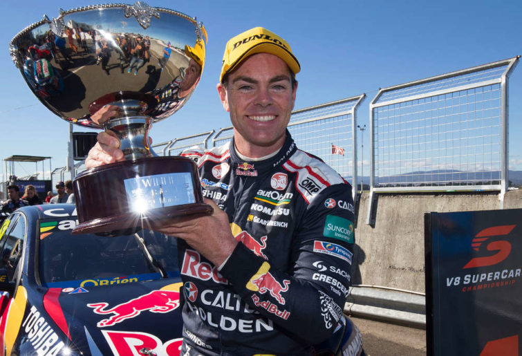 Craig Lowndes with trophy