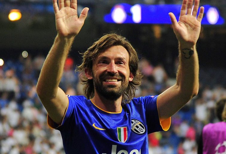 Andrea Pirlo playing for Juventus
