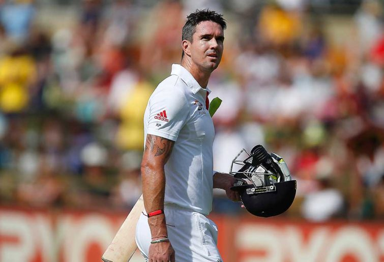 Kevin Pietersen walks back to the pavilion