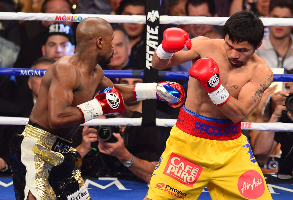 Floyd Mayweather Jr and Manny Pacquiao fight