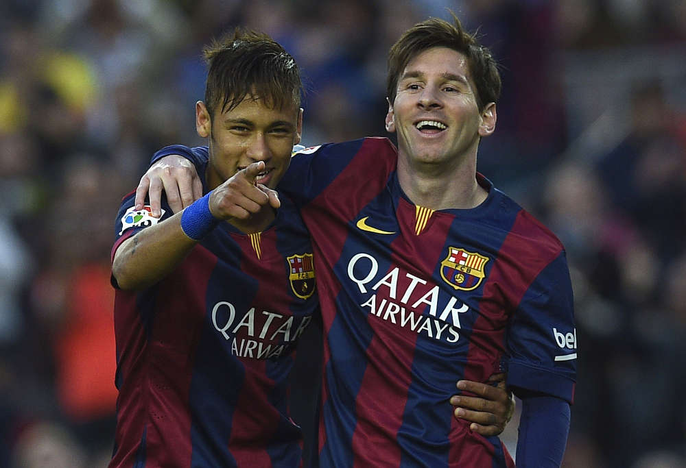 Lionel Messi and Neymar for Barcelona (photo: AFP)