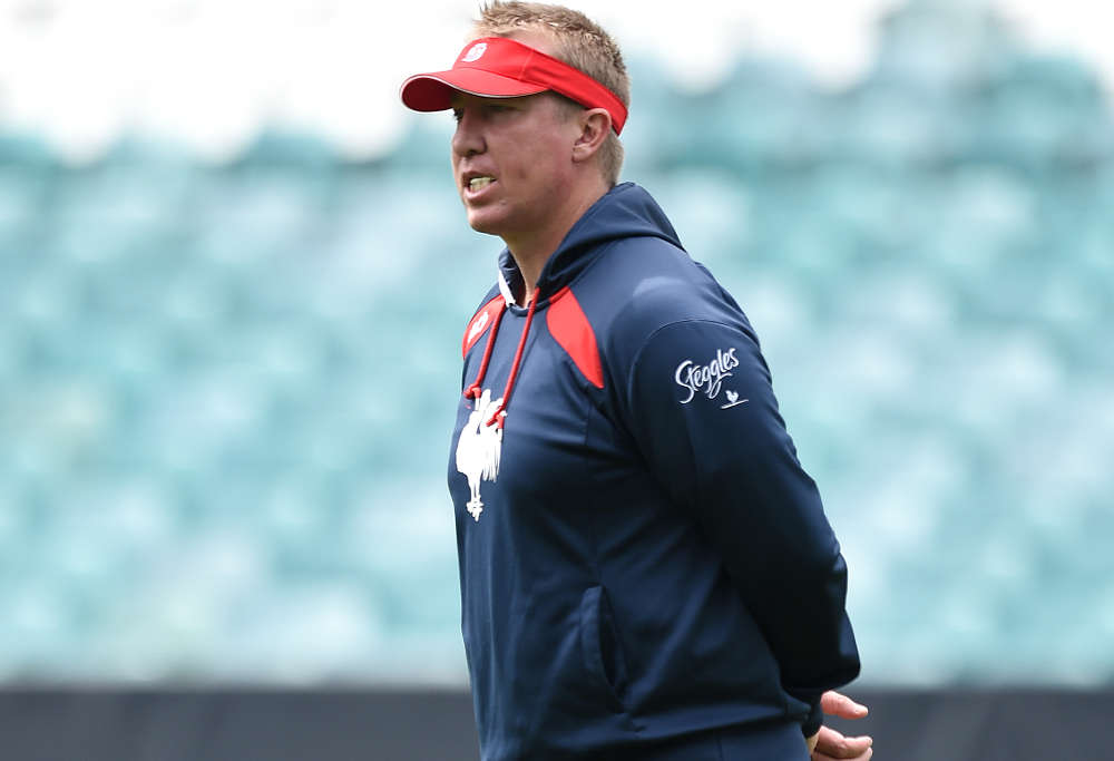 Sydney Roosters NRL coach Trent Robinson