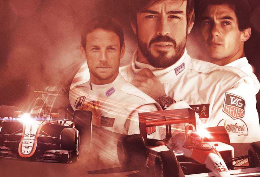 Fernando Alonso and Jenson Button for McLaren-Honda