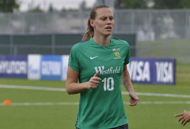 Matildas player Emily van Egmond