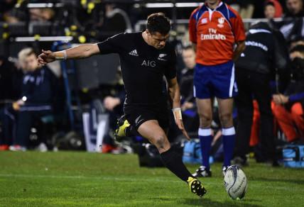 Daniel Carter attempting a goal