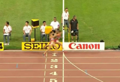 American runner pipped on the line as teammate-ship goes out the window