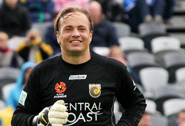 Mark Bosnich playing for the Central Coast Mariners