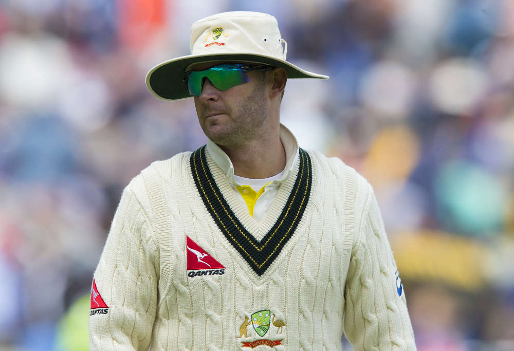 Michael Clarke in the field