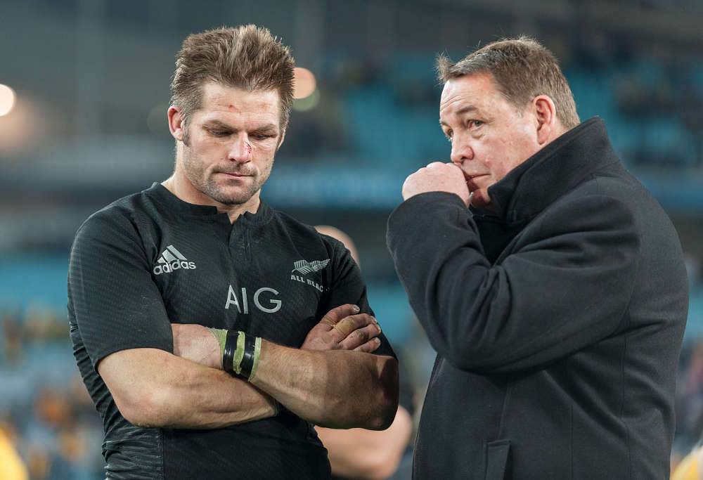 All Blacks' captain Richie McCaw and coach, Steve Hansen