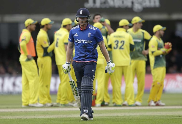 England's Ben Stokes walks