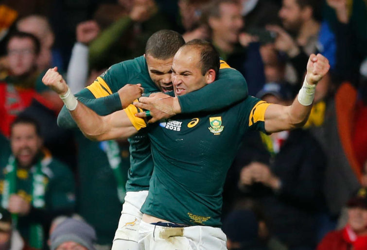 Fourie du Preez South Africa Springboks defeat Wales Rugby World Cup