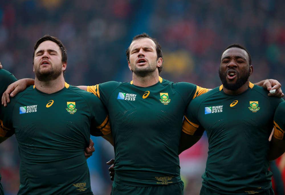 Springboks Frans Malherbe, Bismarck Du Plessis and Tendai Mtawarira