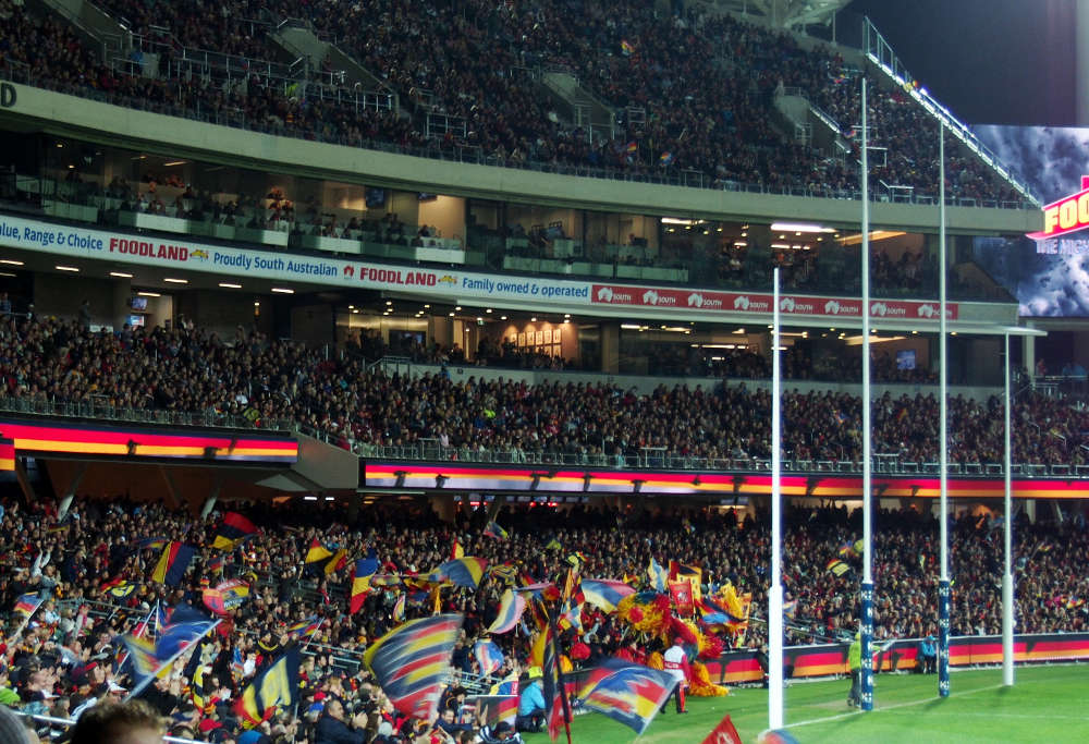 Adelaide Crows AFL fans at Adelaide Oval