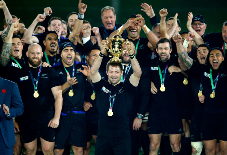 All Blacks celebrate