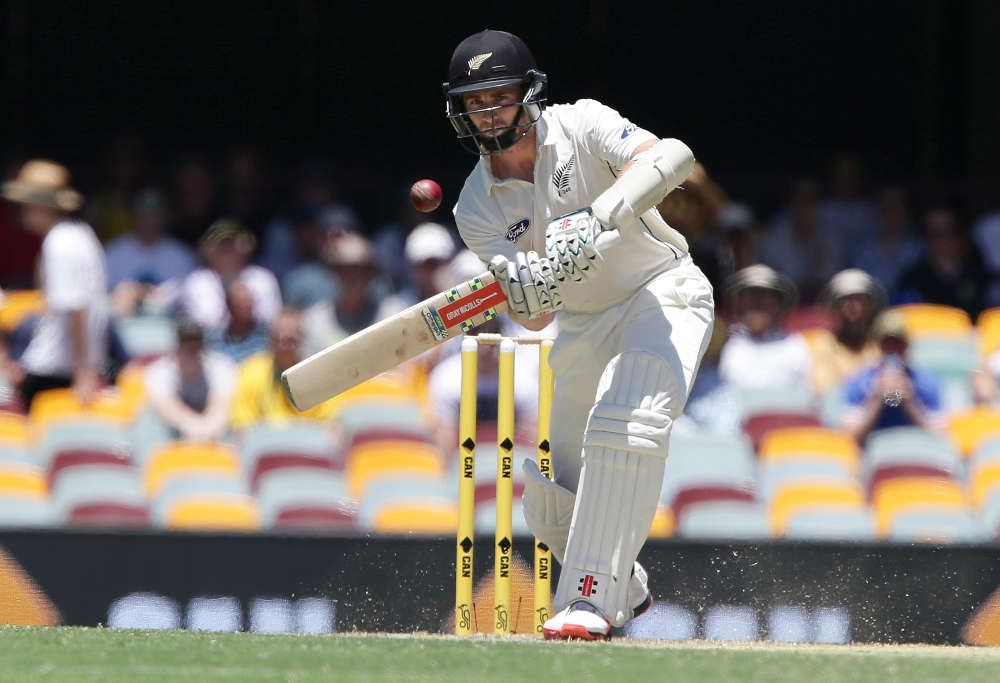 New Zealand's Kane Williamson plays a shot
