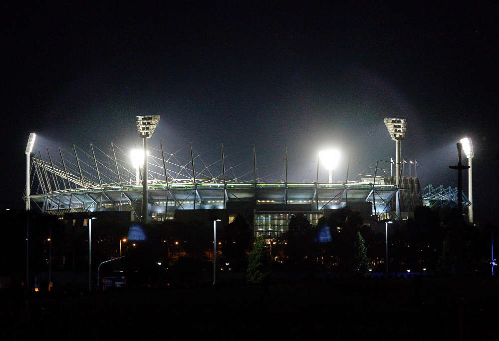 The MCG Melbourne Cricket Ground at night