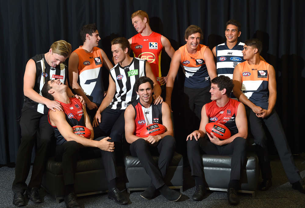 The top ten picks of the 2015 AFL Draft