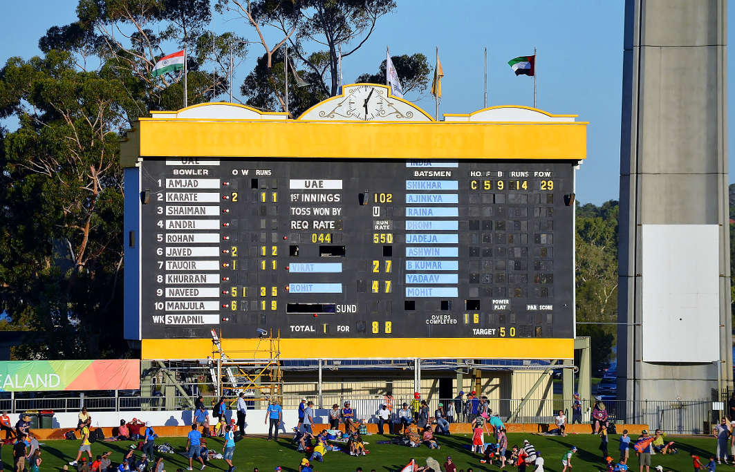 The WACA scoreboard