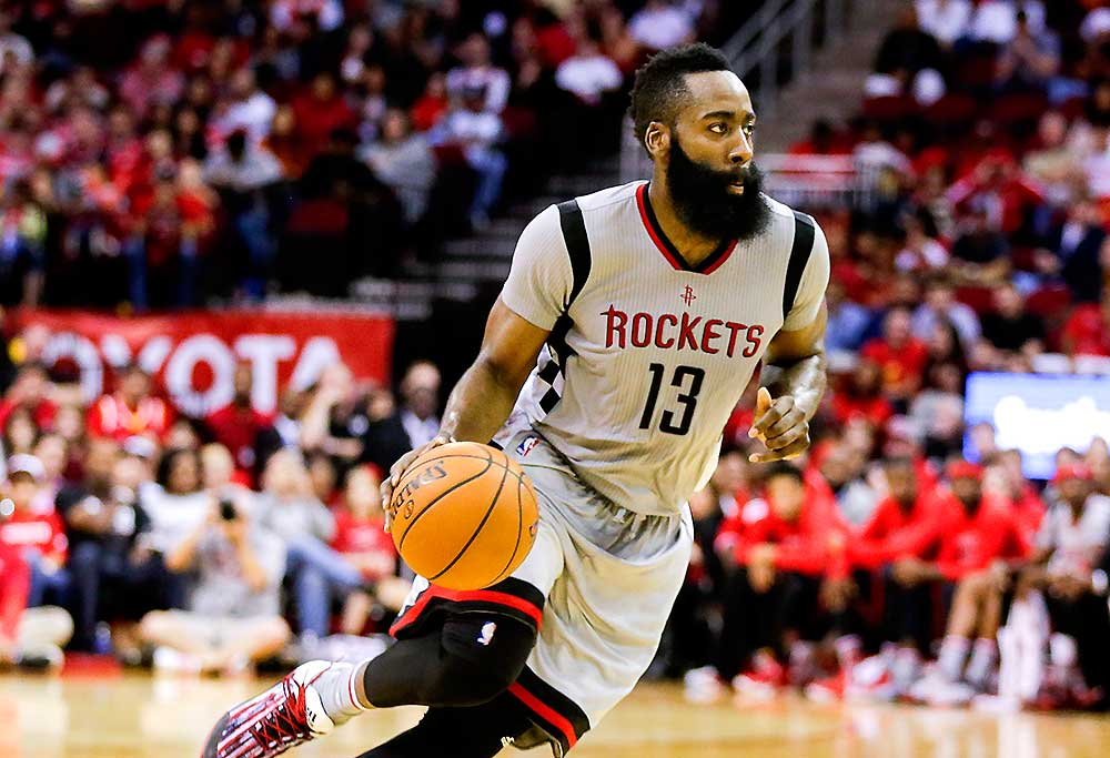 Houston Rockets guard James Harden