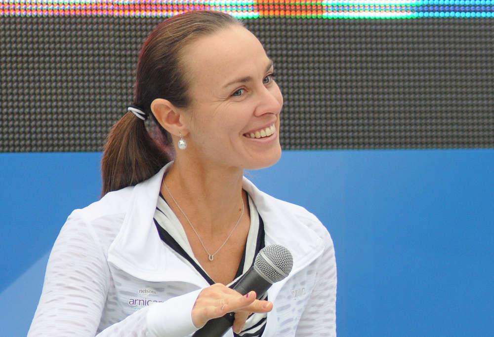 Tennis player Martina Hingis