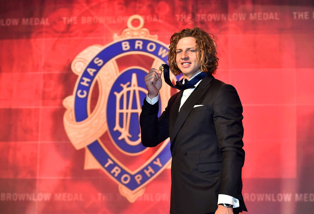 Nat Fyfe Nathan Fyfe Fremantle Dockers Brownlow Medal AFL 2015