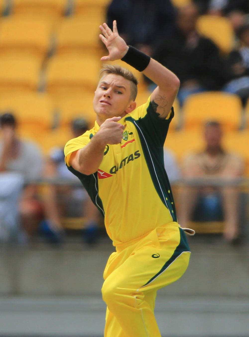 Australia's Adam Zampa bowls