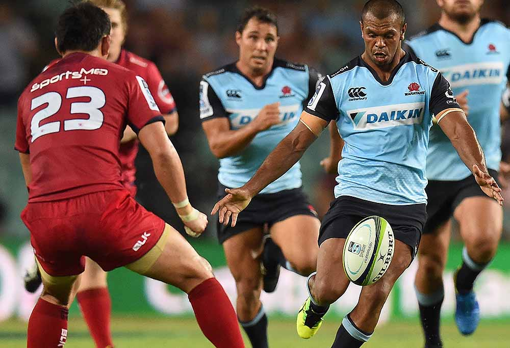 The NSW Waratahs need to lift their game and should probably look to Kurtley Beale for inspiration. (AAP Image/Dean Lewins)