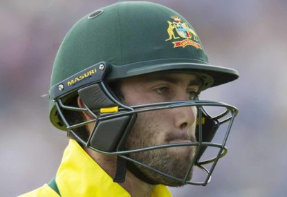 Sick Maxwell unable to train with ODI side
