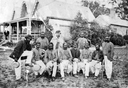 The first Aussie sporting tour, the original Aussie sporting legends