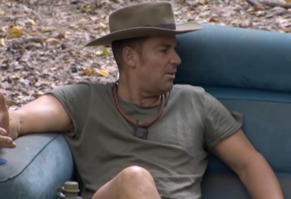 Shane Warne, doing Shane Warne things (Screen Shot, Network Ten).