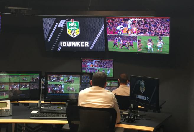Bernard Sutton oversees the NRL video bunker