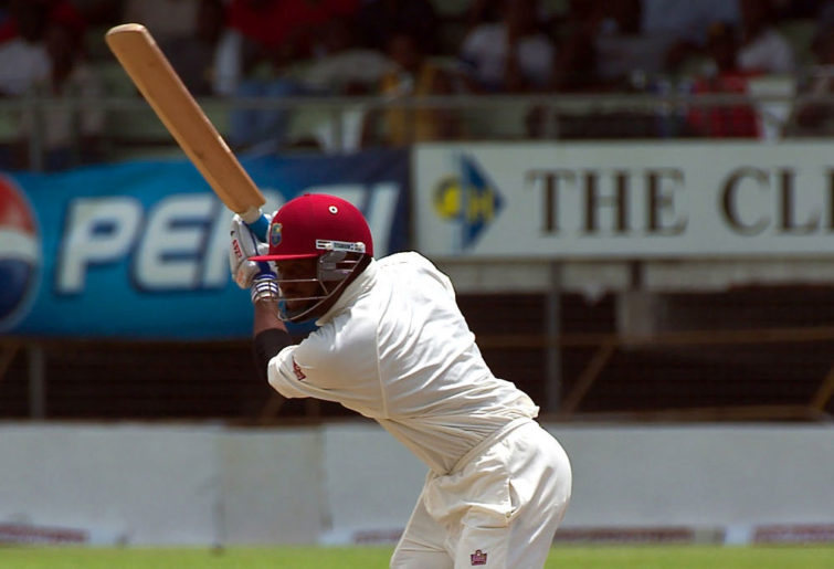 Brian Lara batting for West Indies