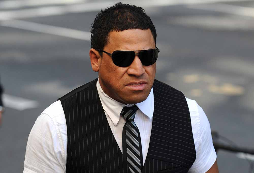 John Hopoate arrives at court.