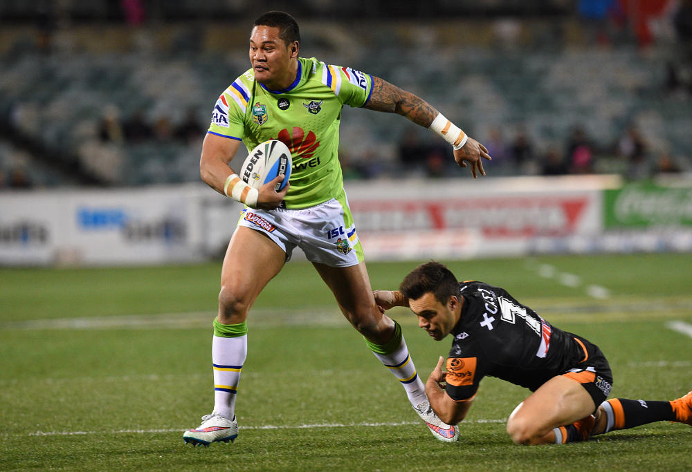 Raiders centre Joseph Leilua