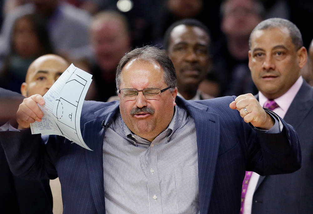 Stan Van Gundy reacts to NBA call