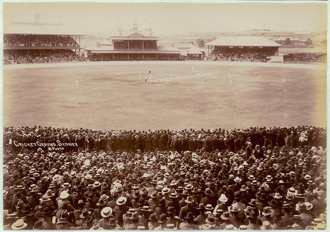 Action from a Sydney Test Match in the early 1900s - credit: State Library of NSW)
