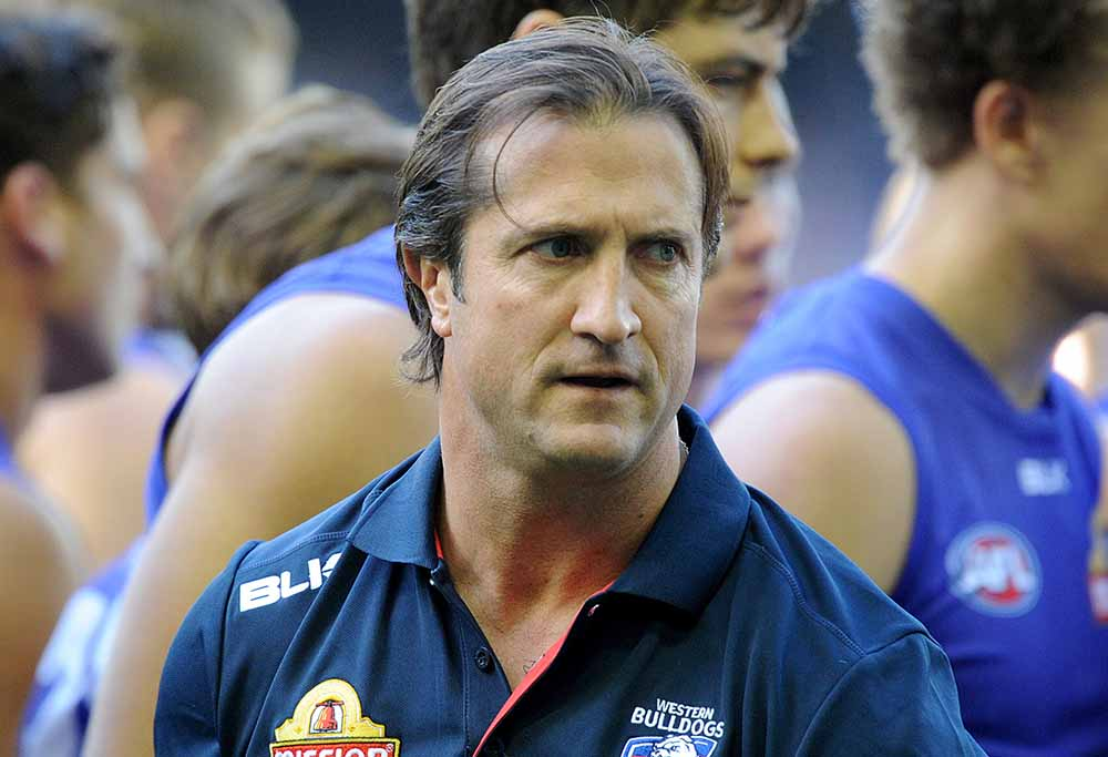 Luke Beveridge for the Bulldogs